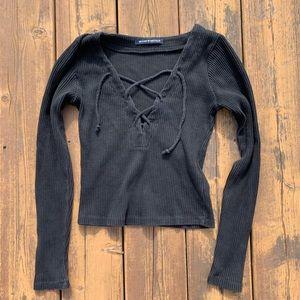 Brandy Melville black long sleeve top